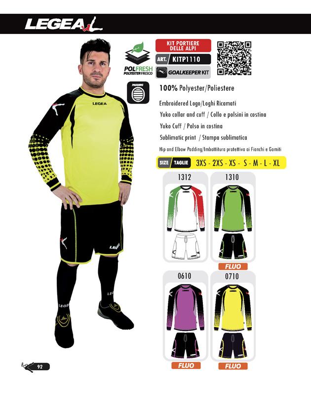 Echipament fotbal de portar Kit Delle Alpi